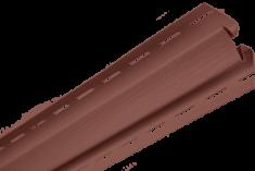 """Планка """"внутренний угол"""", 3м, цвет Красно-коричневый"""