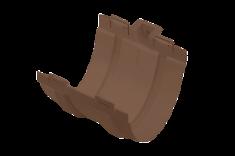 Муфта жёлоба ПВХ Элит (цвет коричневый)