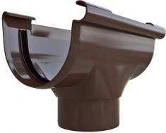 Воронка 82 мм. ПВХ Элит (цвет коричневый)