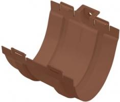 Муфта желоба для водосточной системы Стандарт (цвет коричневый)